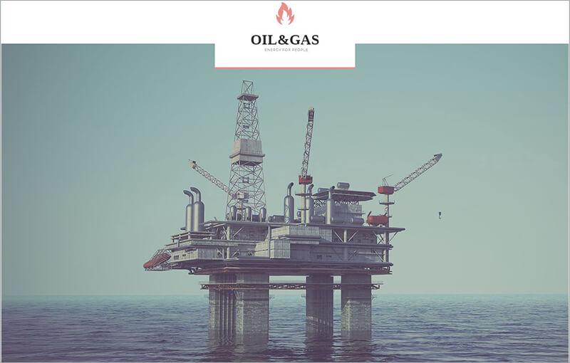 Oil Gas Company WP Theme