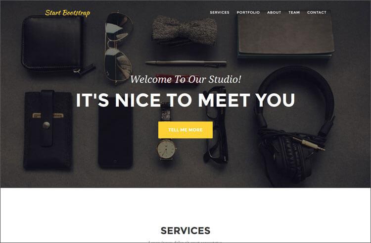 One Page Bootstrap Portfolio Theme