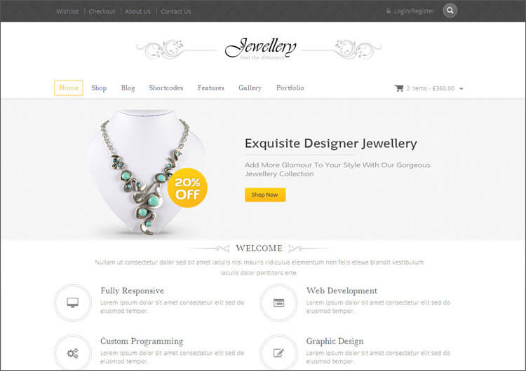 Online Jewellery Store WooCommerce Theme