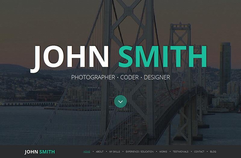 Online Resume Joomla Template