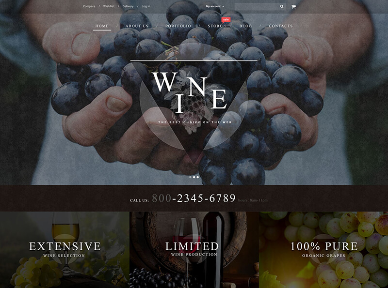 Online Wine Store WooCommerce Theme