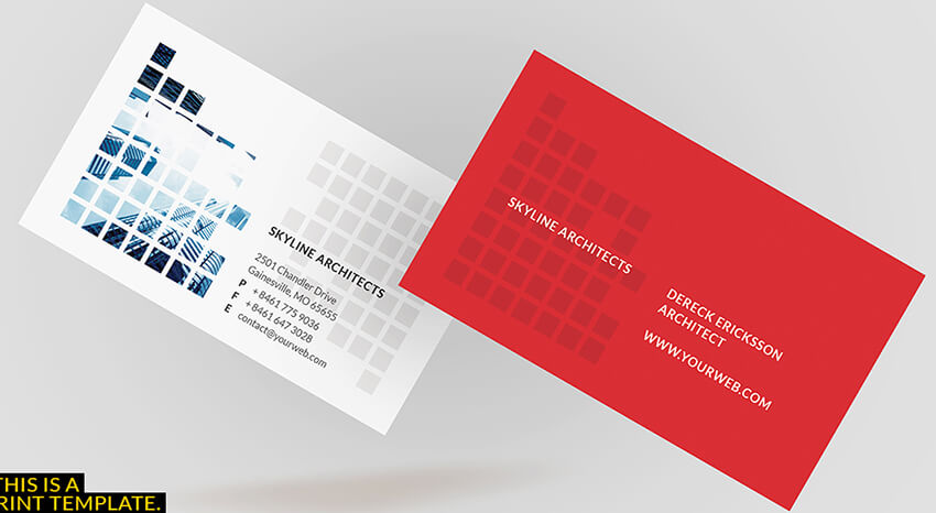 18 architect business cards free psd design templates psd architect business card reheart Choice Image
