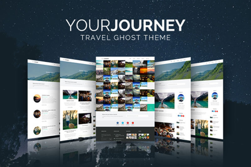 Personal Travel Blog Template