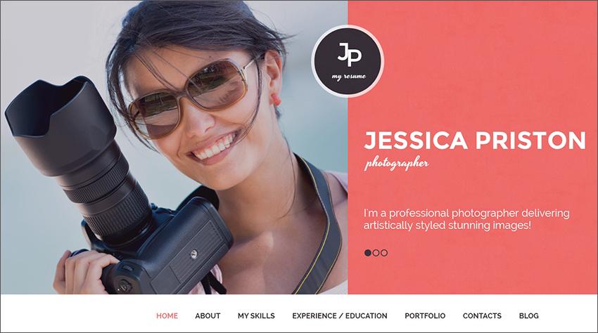 Photographer Blog WP Theme