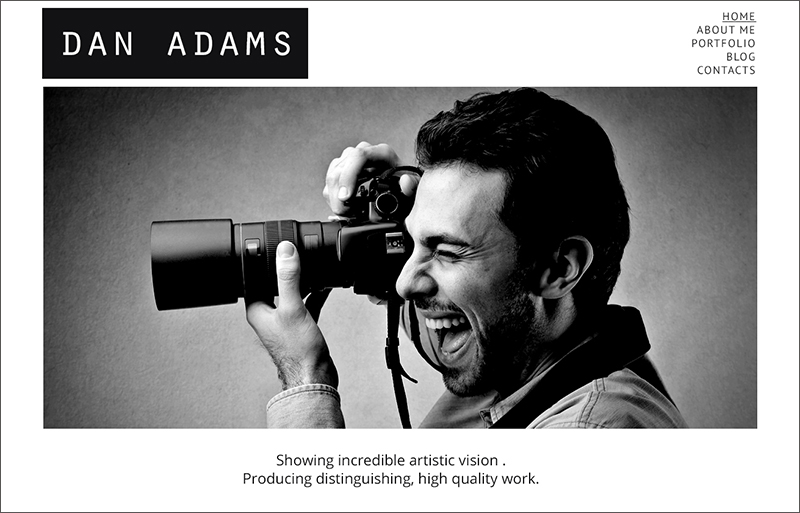 Photographer Responsive Blog WP Theme