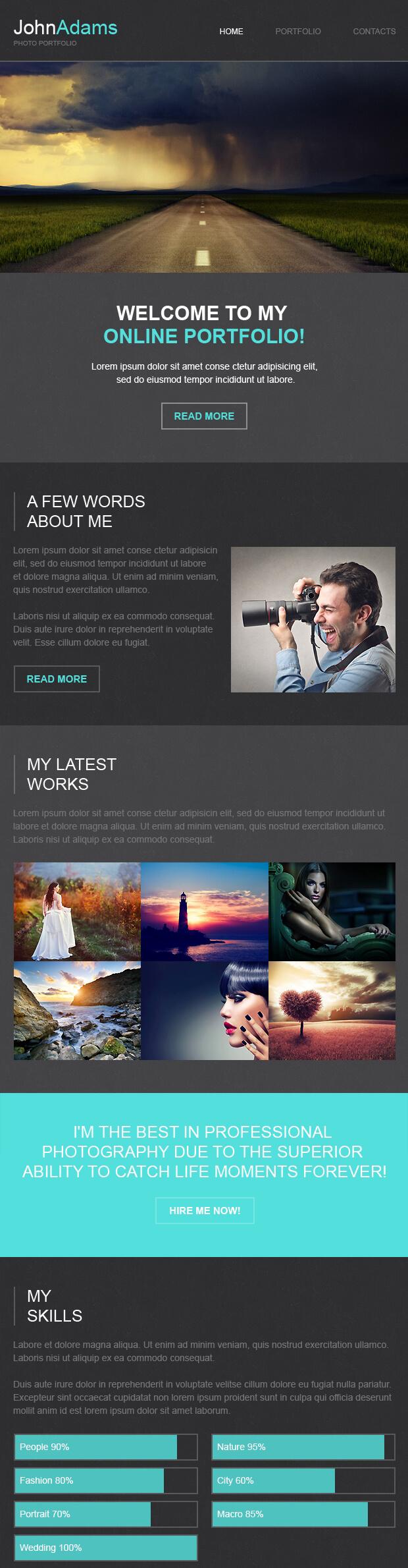 Photographer Responsive Newsletter Template