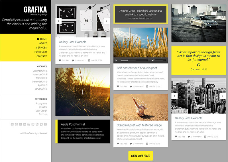 Photography & Blog HTML Template