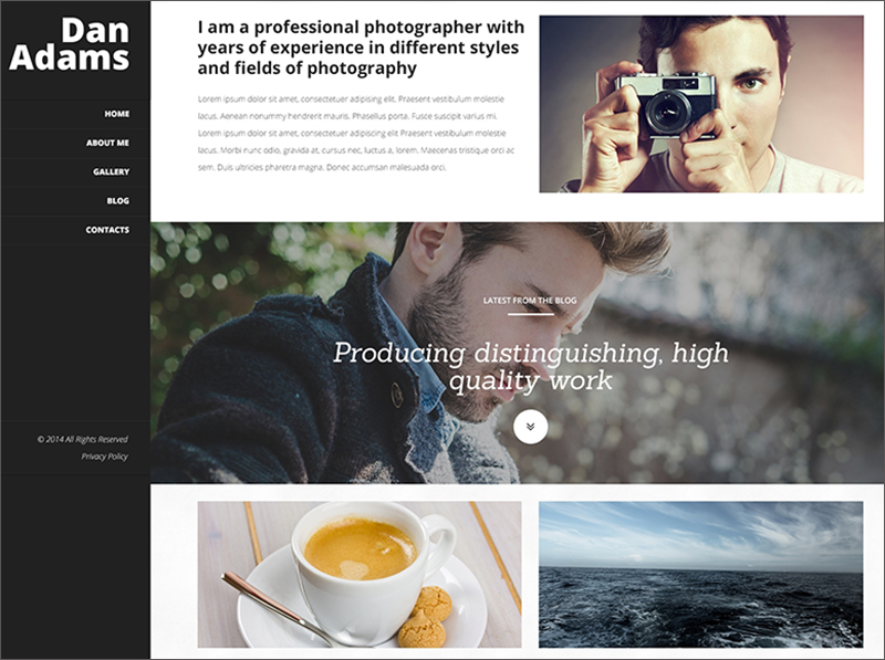 Photography Blog & Portfolio WordPress Theme