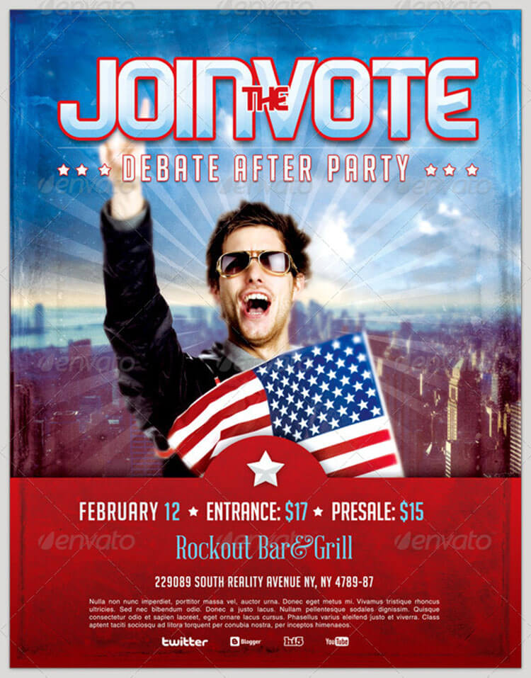 Political Event Flyer Template