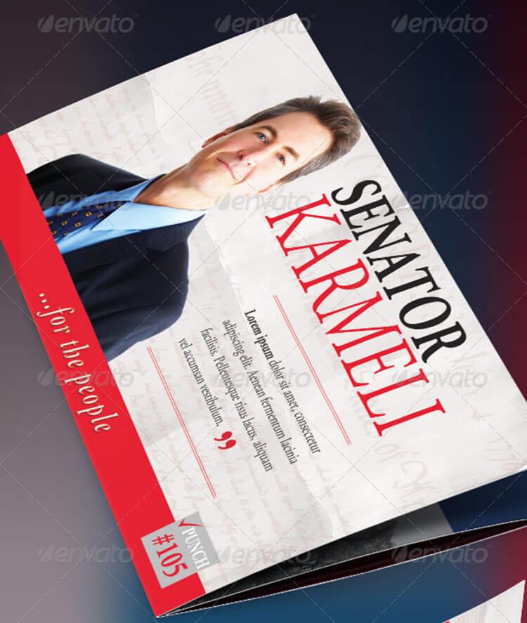Political Tri-Fold Brochure Template