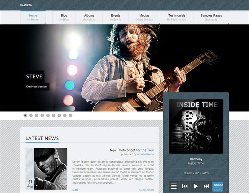 Premium Music Blog WordPress Theme
