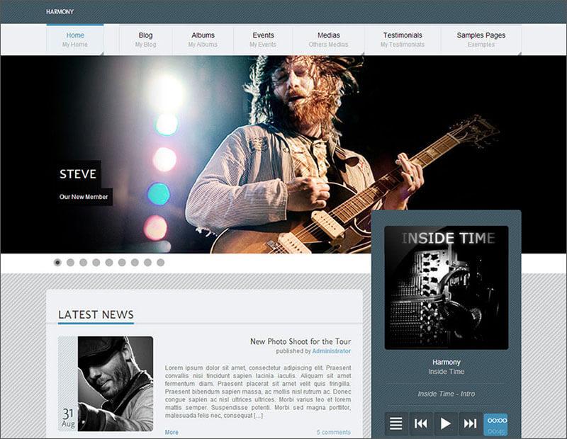 Premium Music Blog WordPress Theme
