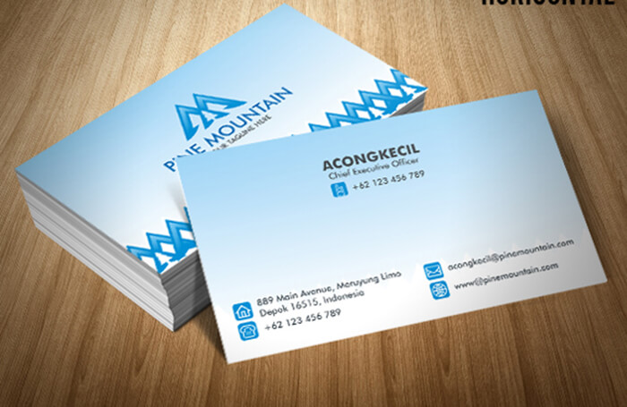 Premium Student Business Card