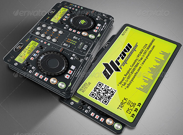 32 dj business card templates free download creativetemplate pro dj business card template reheart Choice Image