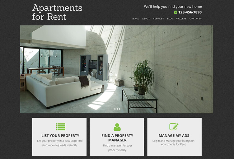Real Estate Agency Drupal Blog Template
