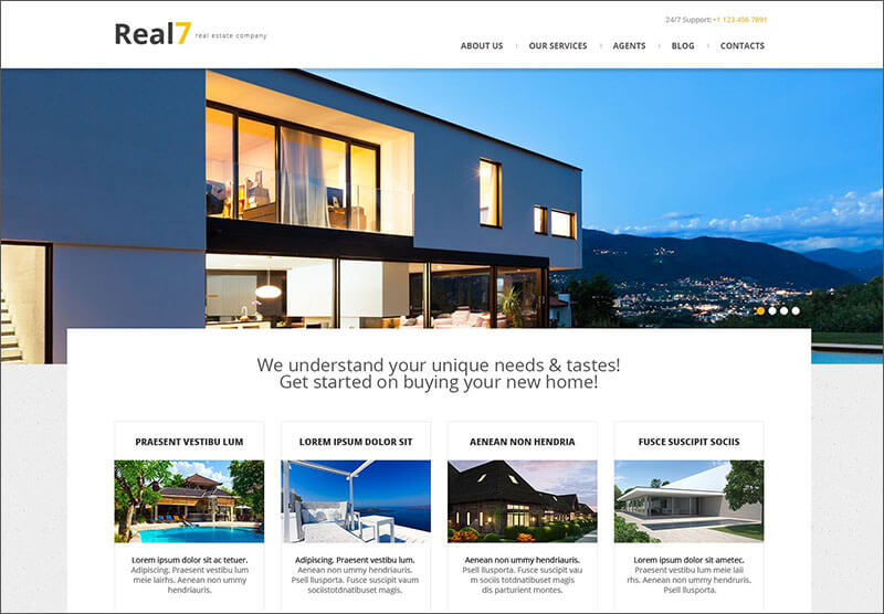 Real Estate Agency Responsive WordPress Blog Theme