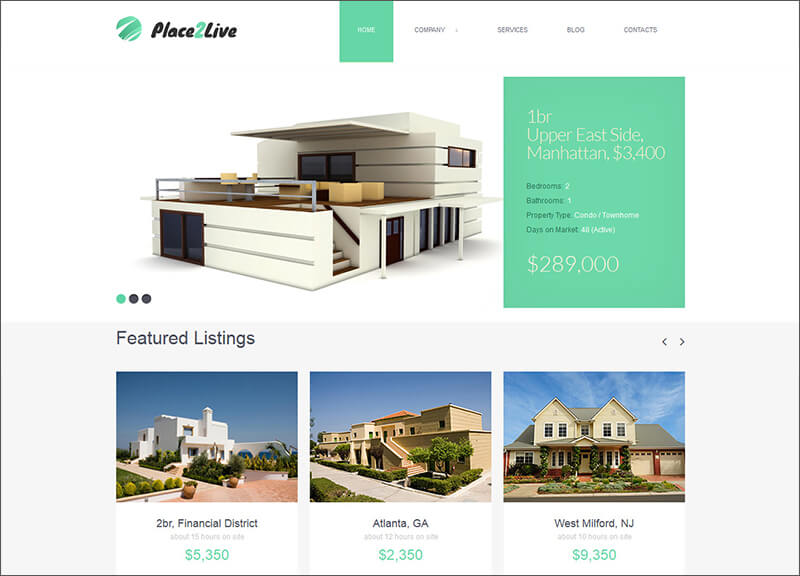 Real Estate Blog Joomla Template