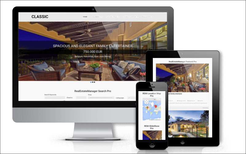 Real Estate Blog Joomla Theme