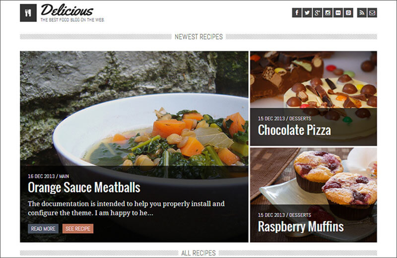 Recipe & Food Blog Theme