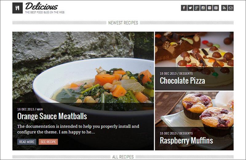 Recipe & Food Blog Theme