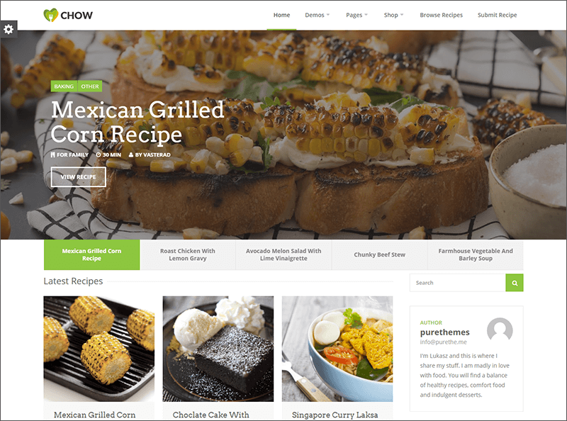 Recipe & Food WordPress Theme