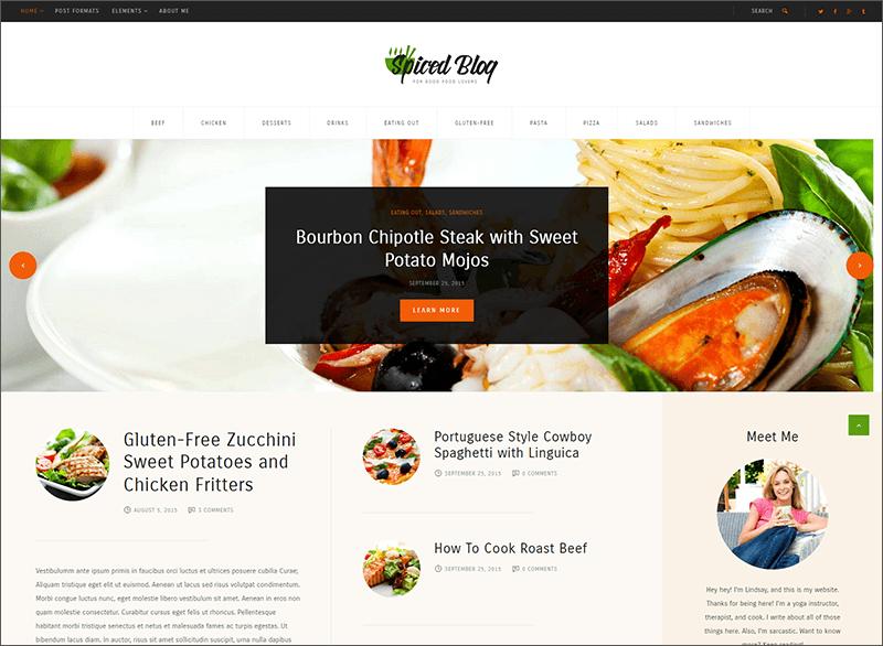 Recipes & Food Personal Blog