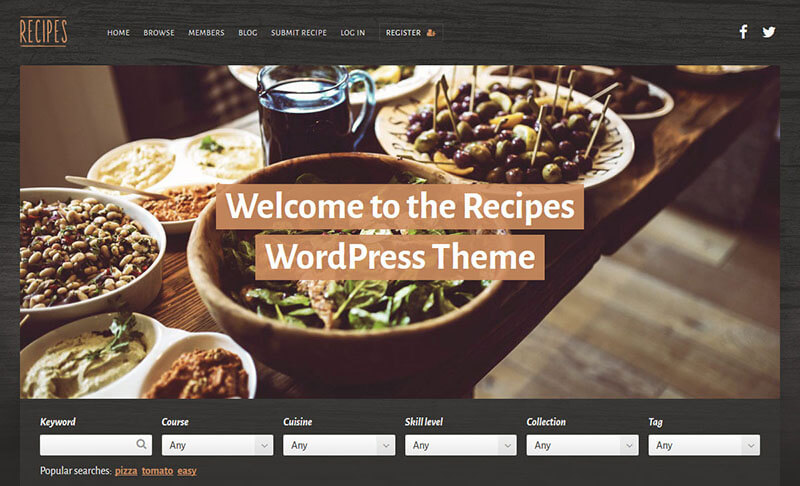Recipes WordPress Blog Theme