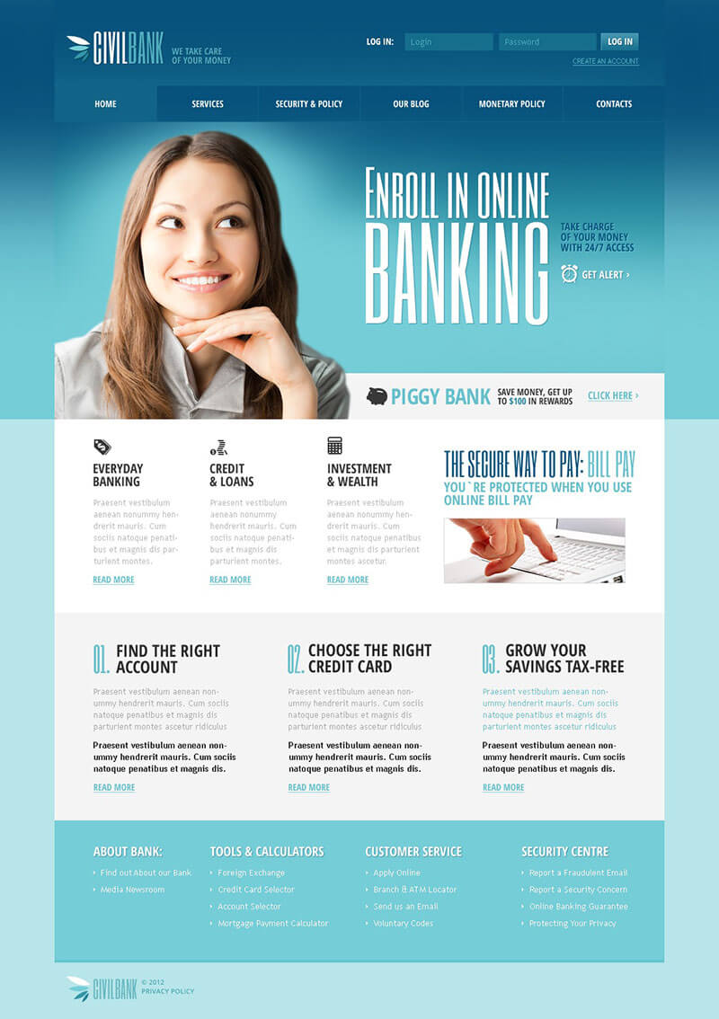 Responsive Bank Joomla Template