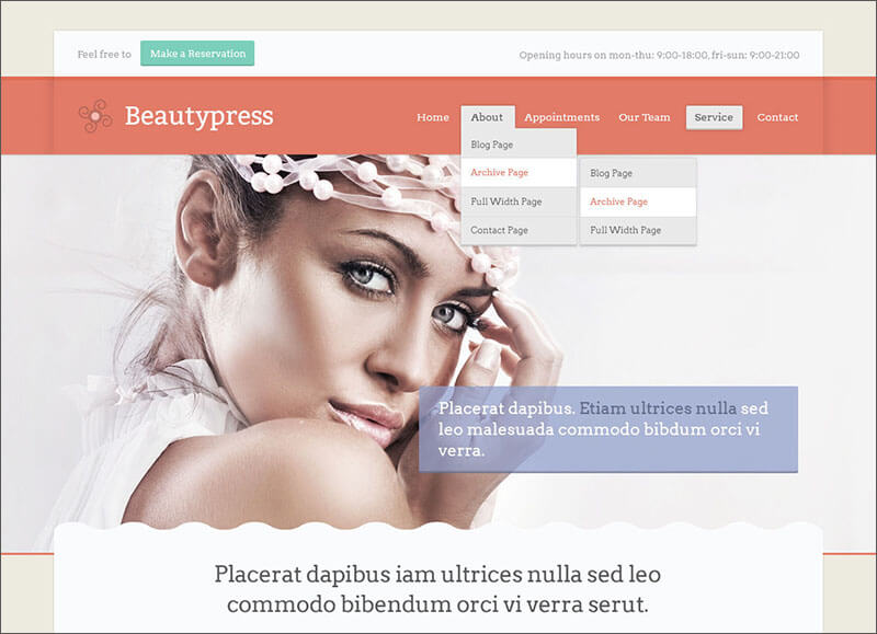 Responsive Beauty WordPress Theme