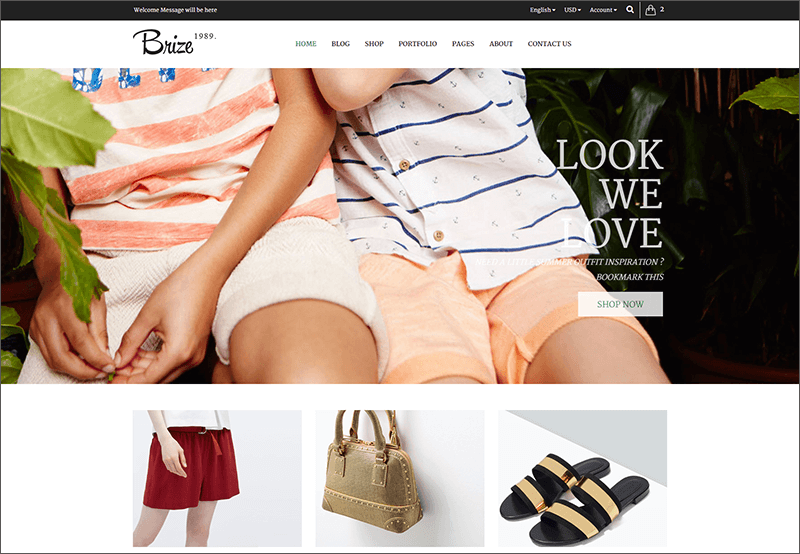 Responsive Bootstrap Fashion Template