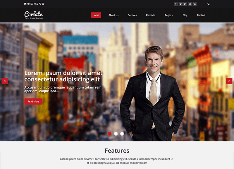 Responsive Business Bootstrap Template