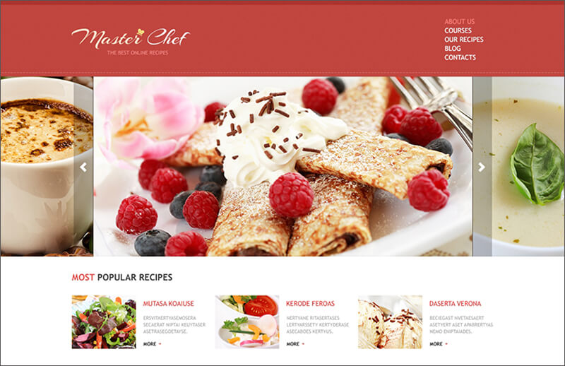 Responsive Cooking Blog Joomla Template