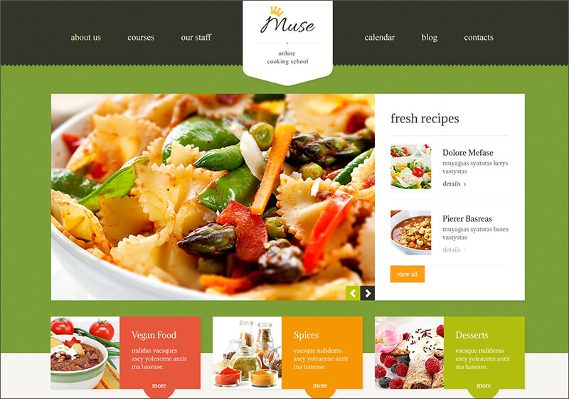 Responsive Cooking Blog WP Theme