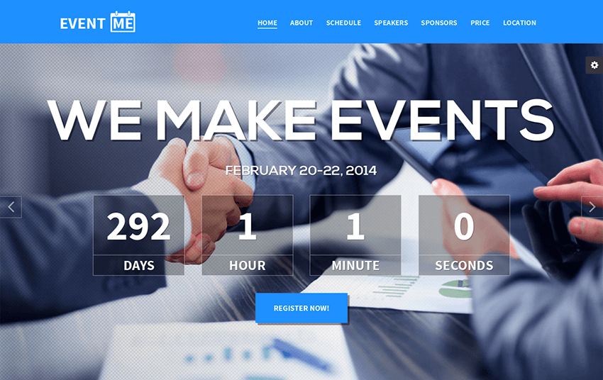 Responsive Event Landing Page