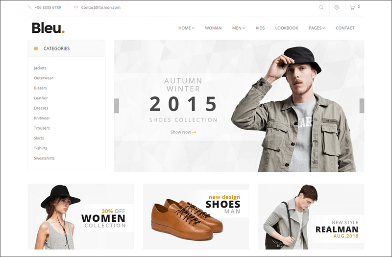 Responsive Fashion Store Bootstrap Template