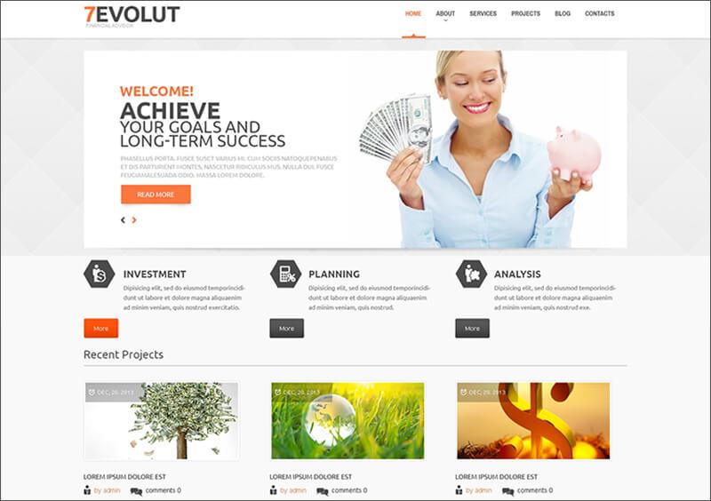 Responsive Financial Advisor WordPress Theme