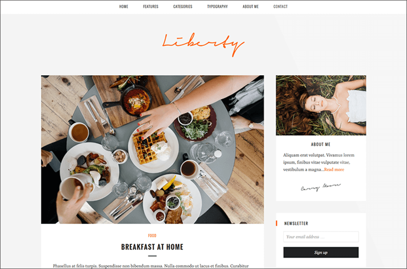 Responsive Food Blog Theme