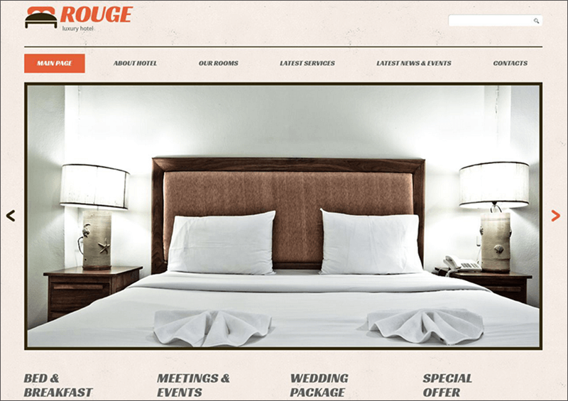 Responsive Hotels Bootstrap WP Theme