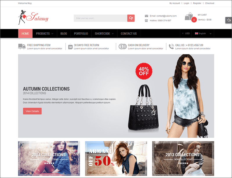 Responsive Online Store WooCommerce WP Theme