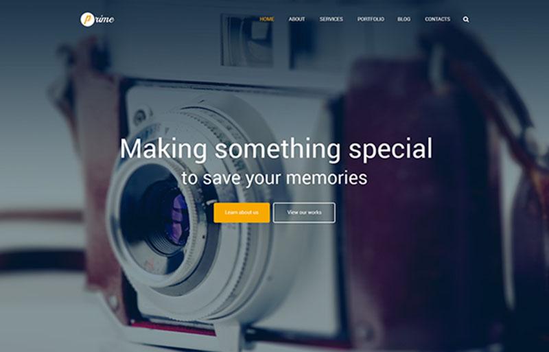 Responsive Photographer Blog Theme
