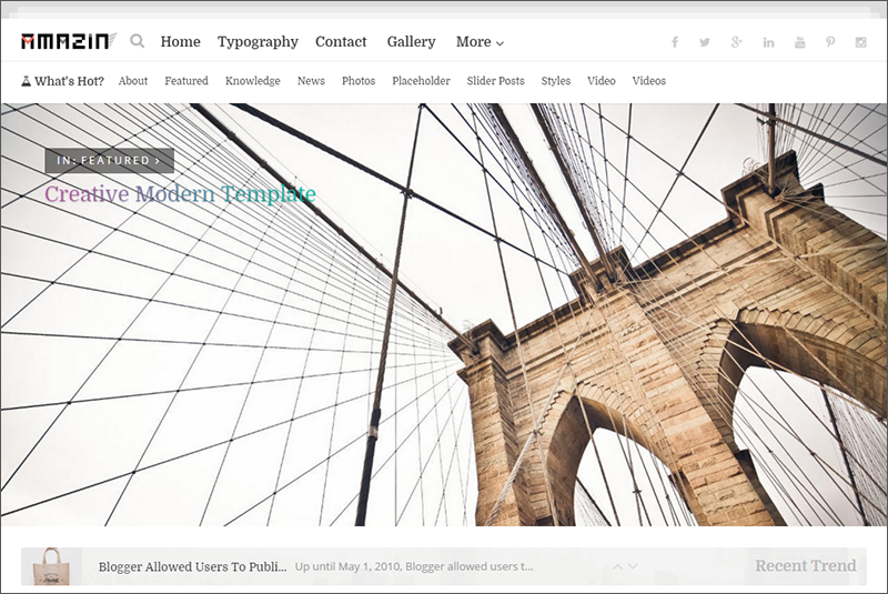 Responsive Photography Blogger Template