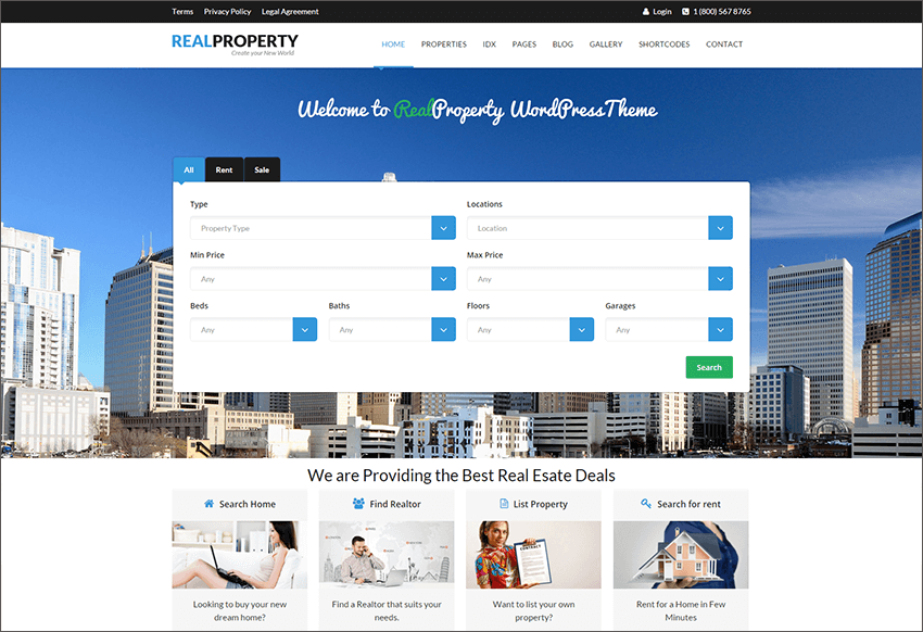 Responsive Real Estate Blog WP Theme