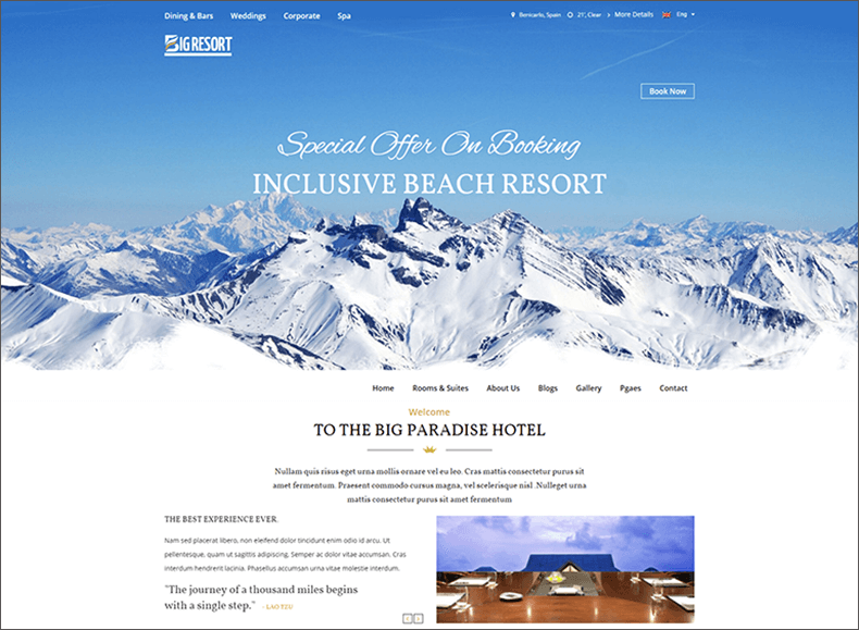 Responsive Travel Blog HTML5 Template