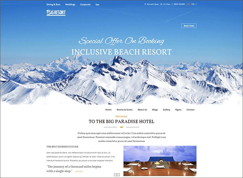 Responsive Travel Blog HTML5 Template