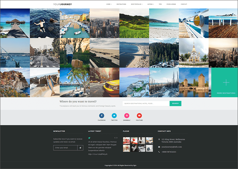 Responsive Travel Blog Template