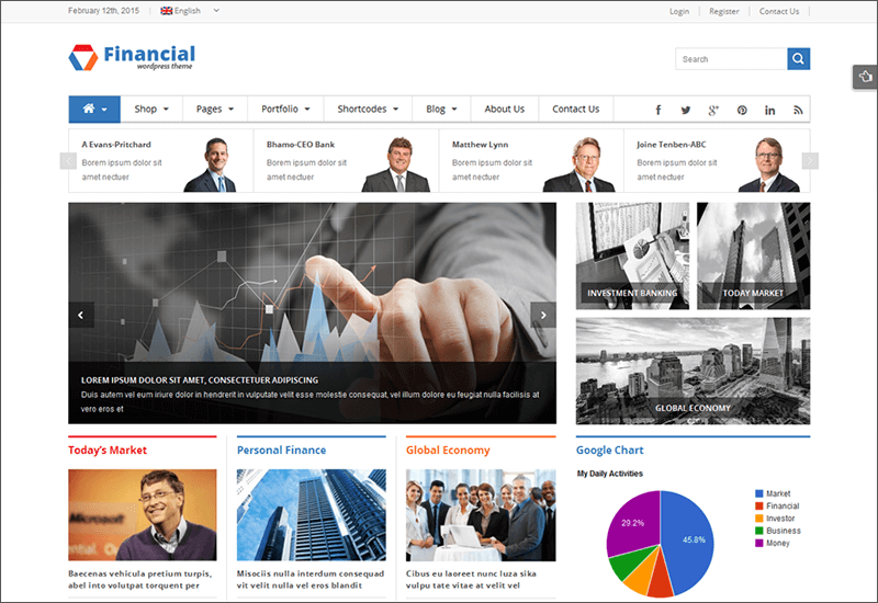 Responsive WP Financial Template