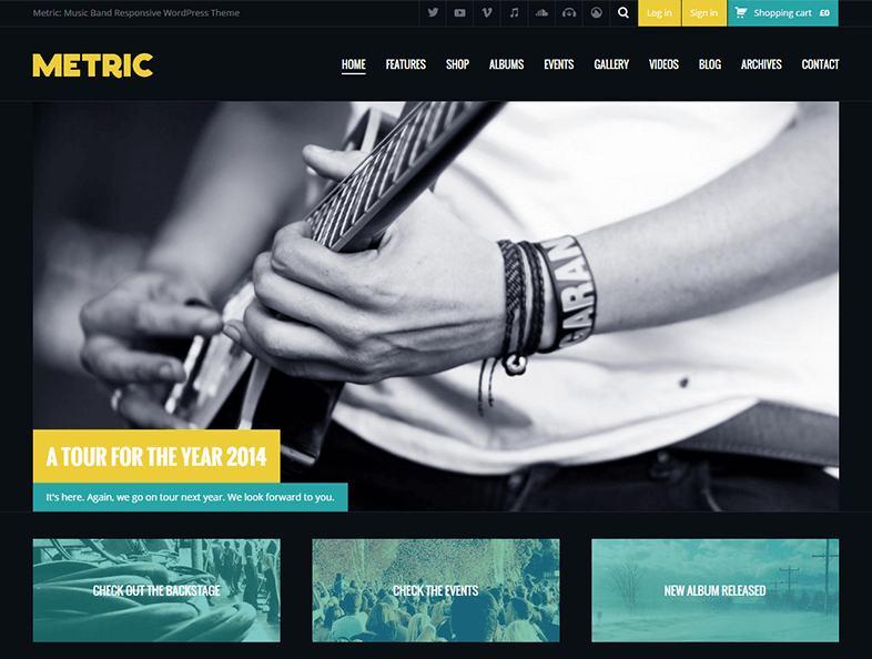 Responsive WordPress Music Blog Theme