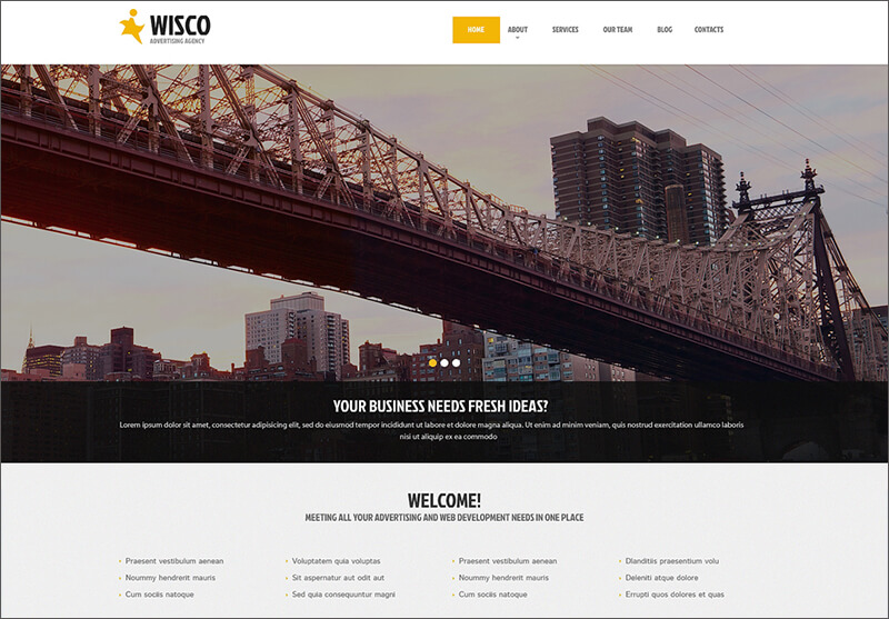 Responsive WordPress Theme For Advertising Agency