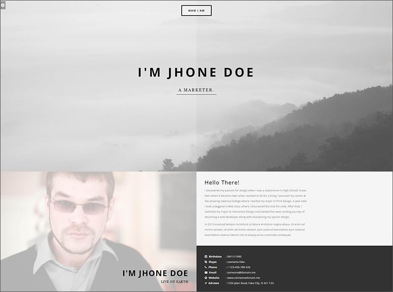 Resume & Portfolio Joomla Template