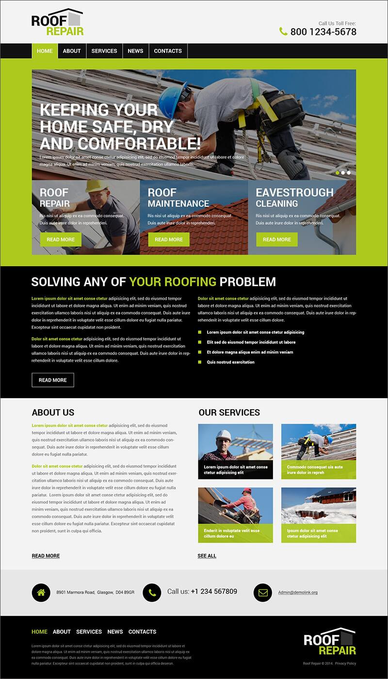 roofing wordpress themes amp templates free amp premium